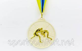 Медаль на стрічці Боротьба 6,5 см (1, 2, 3 місце)