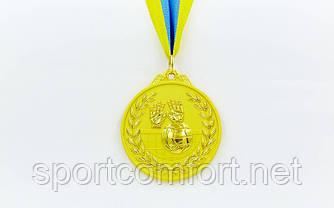 Медаль на стрічці Бокс 6,5 см, 40 р, двоколірна (1, 2, 3 місце)