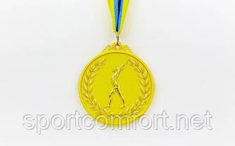 Медаль на стрічці гімнастика 6,5 см (1, 2, 3 місце)