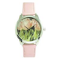 Женские часы Тюльпаны Andywatch розовые