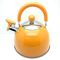 Чайник для газовой плиты, 2 л. (Оранжевый)