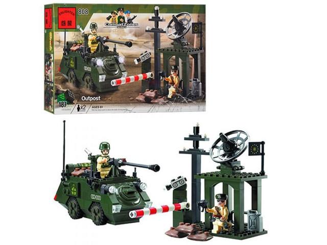 Детский конструктор Brick Военный блокпост