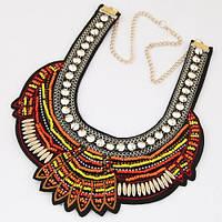 Ожерелье-воротник P005608 коричневое