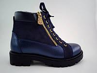 Детские демисезонные ботинки на байке для девочки