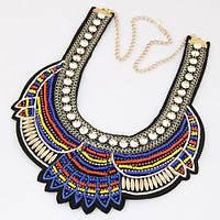 Ожерелье-воротник P005609 синее
