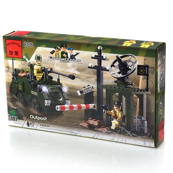 Конструктор Brick 808 Военный блокпост 187 деталей