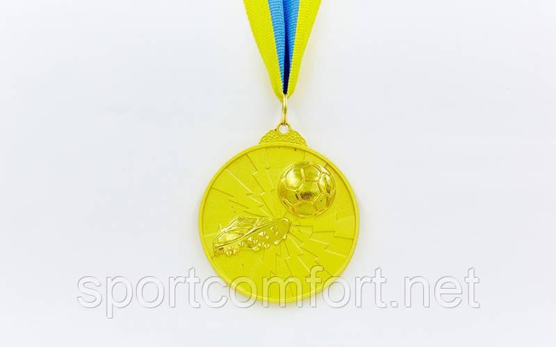 Медаль на ленте Футтбол 6,5 см, 40 г, двухцветная (1, 2, 3 место)