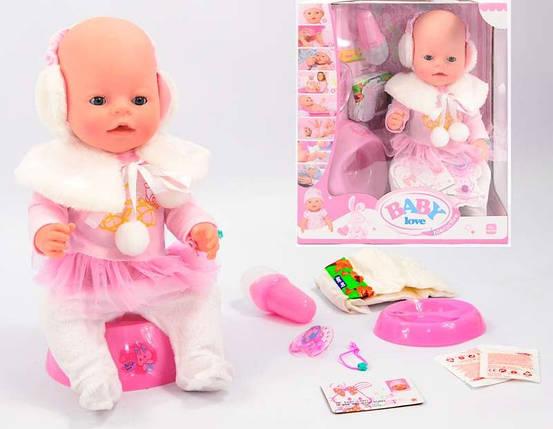Кукла Пупс Baby Love BL010A (аналог Baby Born) 42 см, 8 функций, 9 аксессуаров, фото 2
