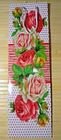 Пакет подарочный под бутылку (12х36х10) Роза