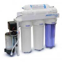 Фильтр для воды AquaLine RO-5P MT18- система обратного осмоса c насосом, фото 1