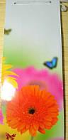 Пакет подарочный под бутылку (12х36х10) Цветок