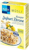 Kölln Müsli Knusper Joghurt-Zitrone - Мюсли Йогурт-Лимон, 500 г
