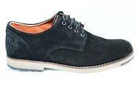 Туфли мужские замшевые чорные TOP-HOLE (топ-хол) 233