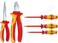 Набор инструментов электроизолированных Knipex Wera 5 штук 00 20 13. Германия