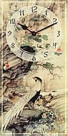 Часы настенные из стекла - фазаны (немецкий механизм)