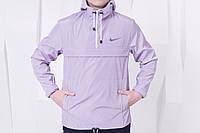Стильный анорак Nike, светло-серый l