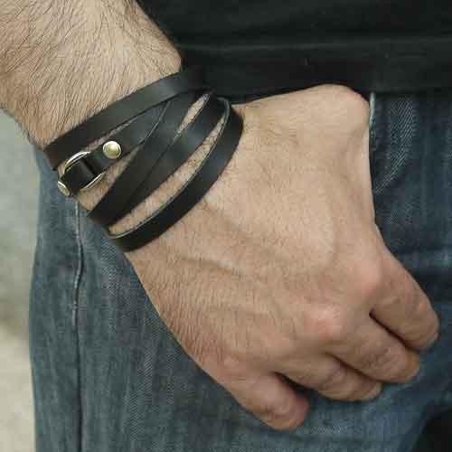 Шкіряний браслет Strips