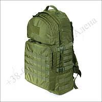 Тактический рюкзак 60 литров олива для военных, туристов, рыбалки кордура
