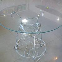 Столик белый художественная ковка