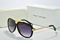 Солнцезащитные очки круглые Marc Jacobs черные