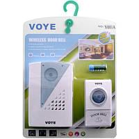 Дверной звонок VOYE V001A беспроводной, мощность 2 Вт, радиус действия до 100 м, 38 мелодий, белый