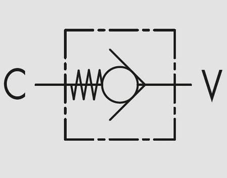 """Обратный клапан VU 1/2"""" ±0,4/0,7 BAR, фото 2"""