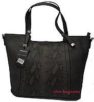 Женская сумка в виде корзинки со втавкой
