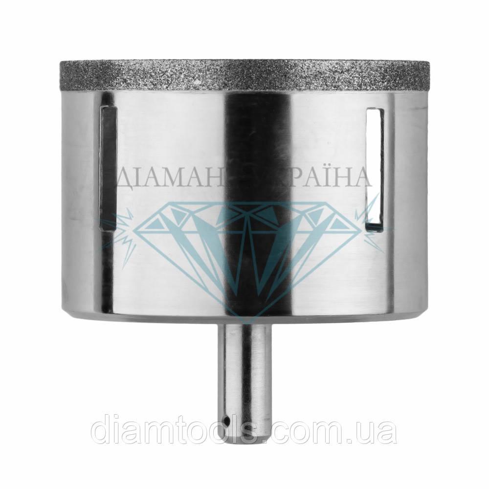 Сверло алмазное по керамограниту Діамант Україна D74 мм