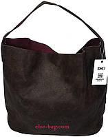 Коричневая женская сумка-шоппер, фото 1