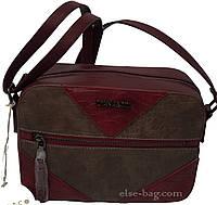 Каркасная женская сумка через плечо, двухцветная