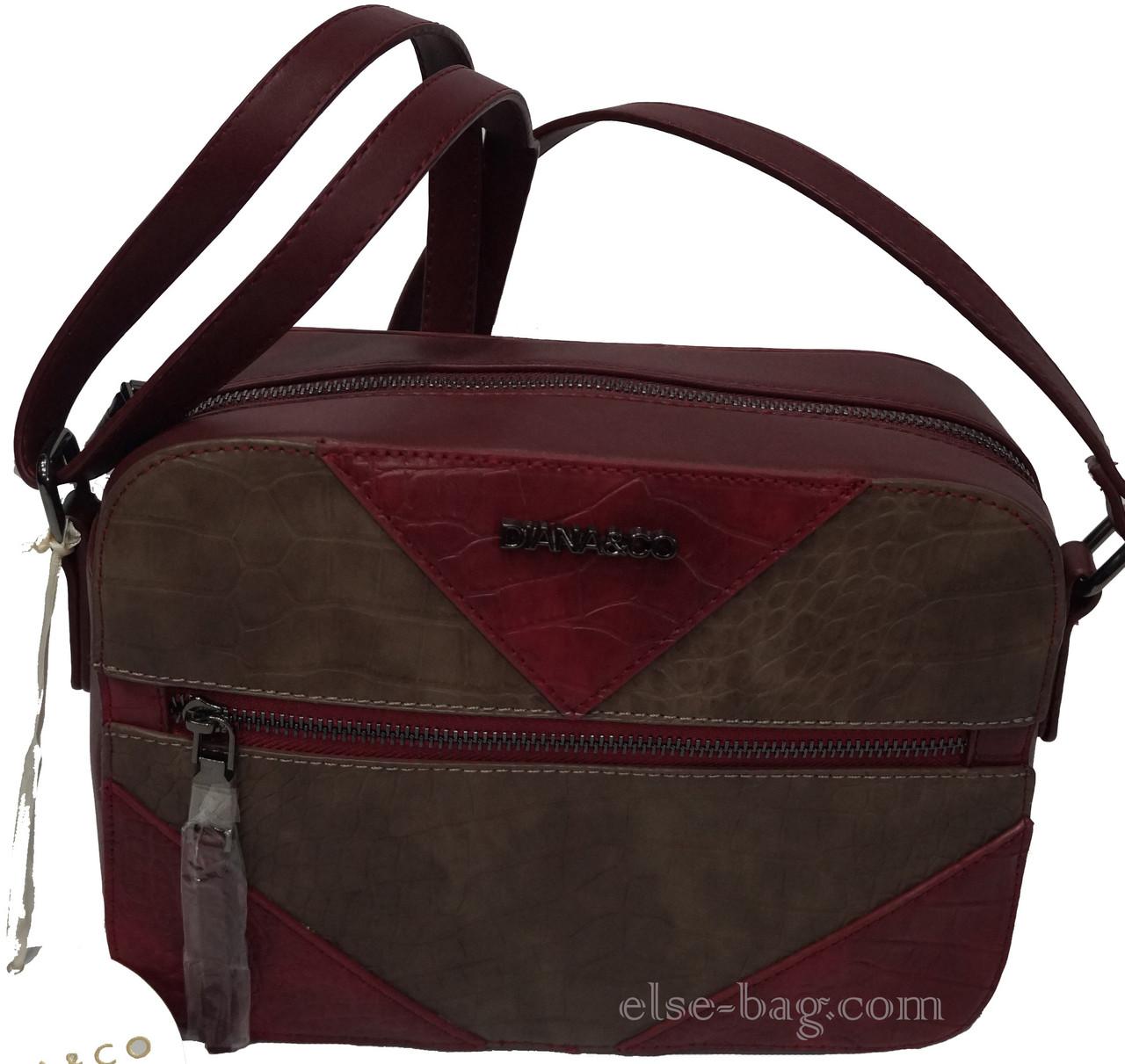 94c8bc684316 Каркасная женская сумка через плечо, двухцветная -