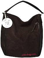 Коричневая мягкая сумочка на плечо Diana Co