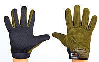 Перчатки тактические с закрытыми пальцами 5.11 (рр L, оливковый)