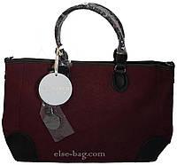 Женская сумка цвета  *марсал*