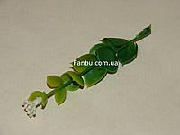 Добавка-зонтик к искусственным букетам, зеленый с белым  (h-9,5 см