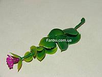 Добавка-зонтик к искусственным букетам, зеленый с лиловым (h-9,5 см