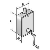 Кассета для троса защитной  роллеты редукторная 20кг