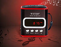 Портативная колонка MP3 USB WSTER WS-215, компактная музыкальная колонка, радио колонка, fm радио колонка usb