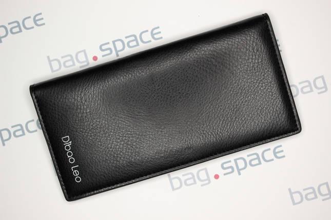 Кошелёк мужской Dibao Leo L9, дизайн 3, чёрный, фото 2
