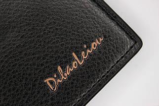 Кошелёк мужской Dibao Leo L9, дизайн 2, чёрный, фото 3