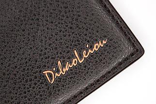 Кошелёк мужской Dibao Leo L9, дизайн 2, тёмно-коричневый, фото 3