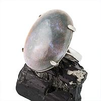 Яшма серая, серебро 925, кольцо, 300КЯ