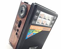 Радиоприемник колонка GOLON RX-199, радиоприемник с фонариком, компактное радио для дома и дачи