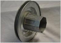 Металлический шкив с втулкой и подшипником для защитной  роллеты 40\150
