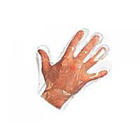 Перчатки полиэтиленовые упаковка 100 штук  белый