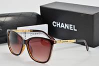 Солнцезащитные очки квадратные Chanel коричневые, фото 1