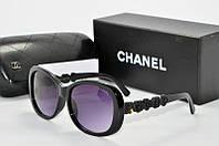 Солнцезащитные очки прямоугольные Chanel черные