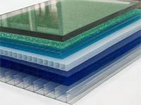 Полікарбонат Italon, бронза, опал, червоний, синій, зелений 6000х2100х8 мм / Поликарбонат Италон разные цвета.