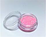 Блестки для ногтей в баночке, цвет нежно-розовый, фото 2