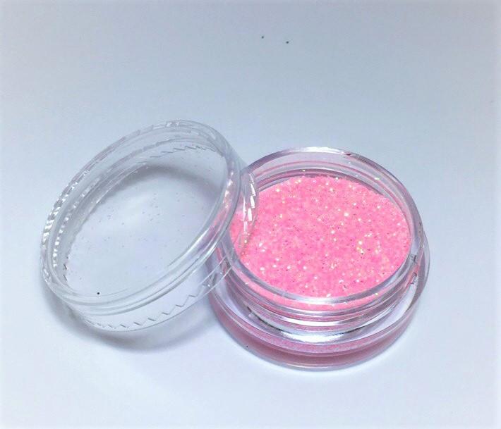 Блестки для ногтей в баночке, цвет нежно-розовый